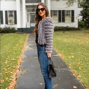NWT Greylin Natasha fuzzy jacket grey-XS